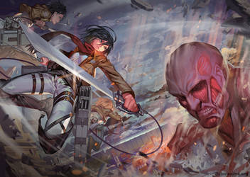 Attack On Titans By Ra
