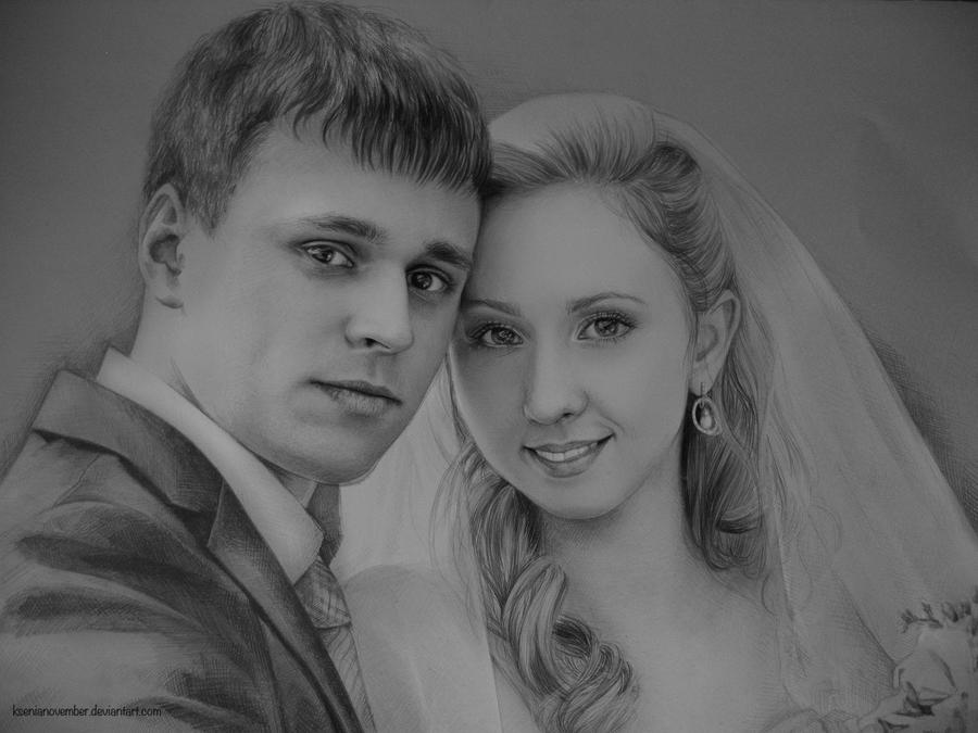 Wedding portrait by Ksenianovember