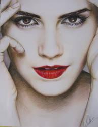 Emma Watson colored portrait