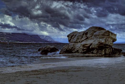Fight w south wind near rock