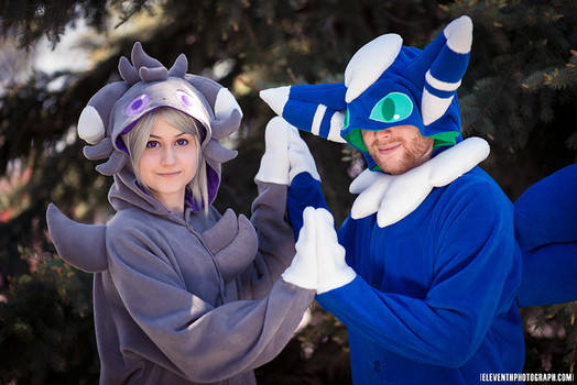 Kigurumi Pair! Espurr and Meowstic