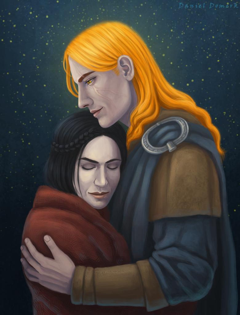 Dovahkiin and Serana by Domerk