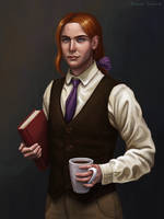 Young Albus Dumbledore by Domerk