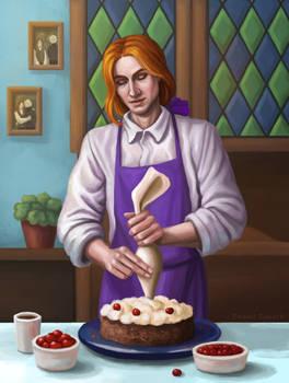 Young Albus Dumbledore cooks