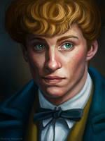 Newt Scamander (sketch portrait) by Domerk