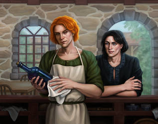 Kvothe and Bast by Domerk
