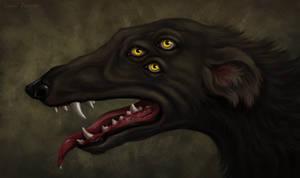 Greyhound dog-undead