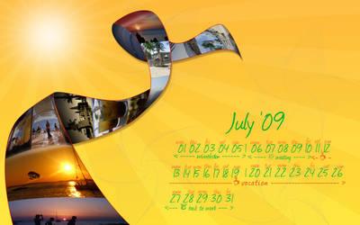 July 09 wallpaper calendar
