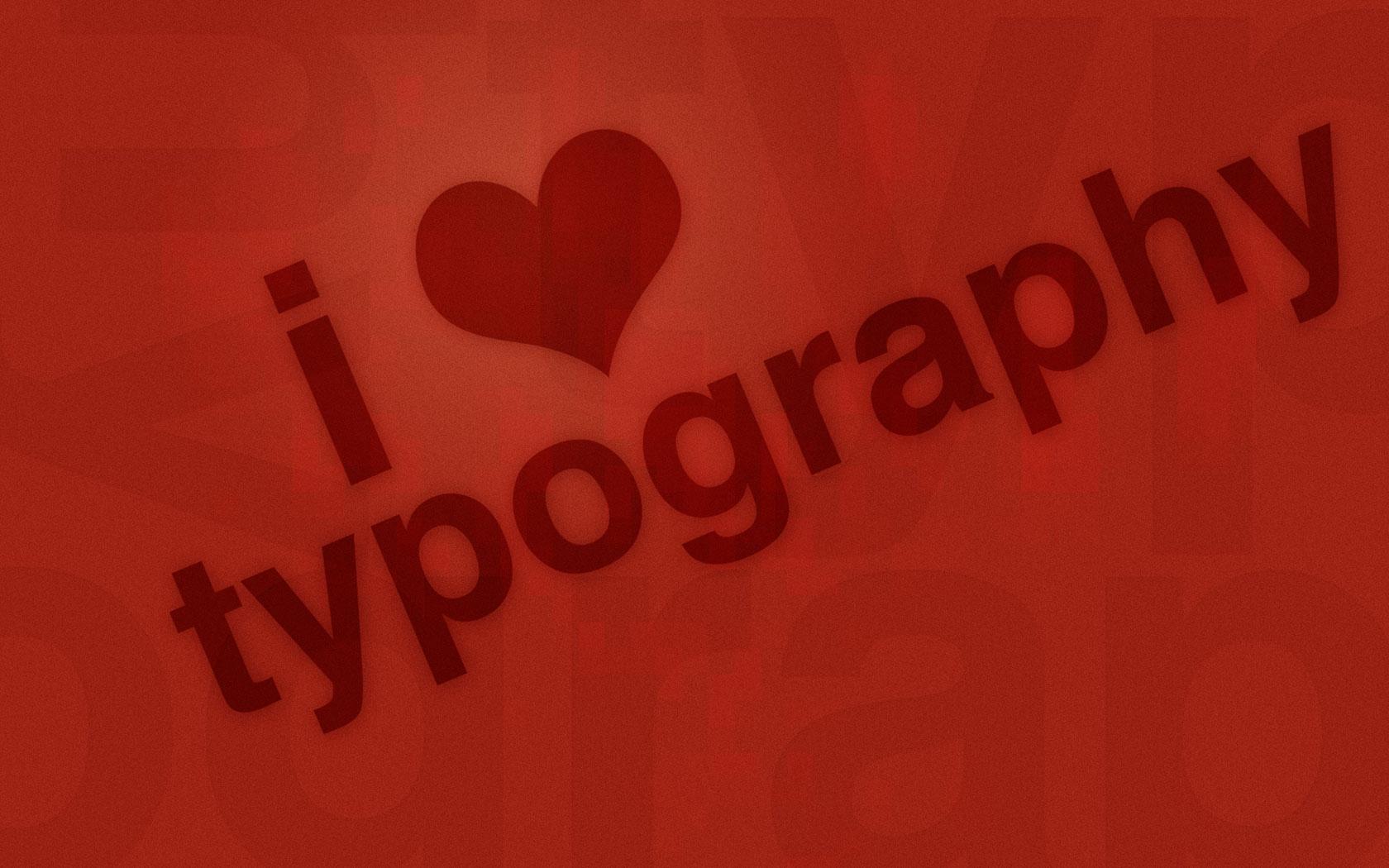 I Love Typography by colaja