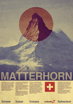 Vintage Swissair Travel Poster