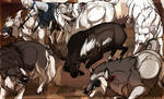 Caribou Hunting / Team Work