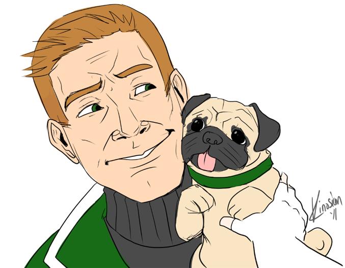 Guy Gardner Plus Pug by JamieKinosian