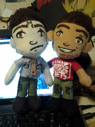 RD: Rimmer and Lister plushies by Wild-Adapted