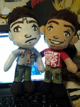 RD: Rimmer and Lister plushies