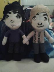 Sherlock and John Plushies by Wild-Adapted