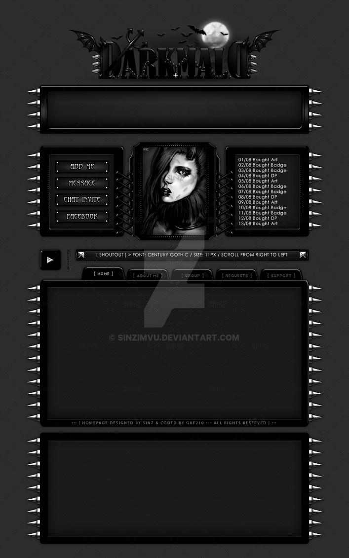 Custom Homepage Design for DarkMald @ IMVU by SinzIMVU on