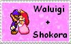 Waluigi+Shokora Stamp by MoonWarriorAutumn