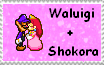 Waluigi+Shokora Stamp by MoonWarriorAutumn