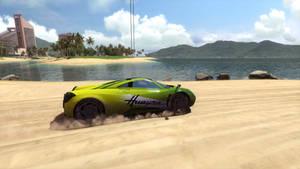 Trackmania 2 Lagoon Driving at Sand