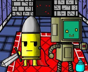 Enter The Gungeon : The Bullet and The Robot by Gianluca850