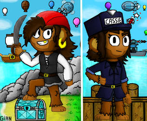 Bloons Adventure Time:(Pirate/Commander) Cassie by Gianluca850