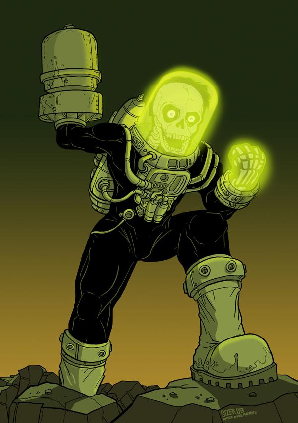 ReMAKE: Atomic Man FANART by PaulSizer