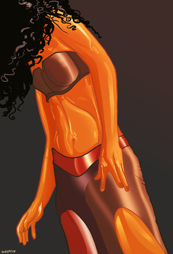 Dancer Torso Color Sketch by PaulSizer