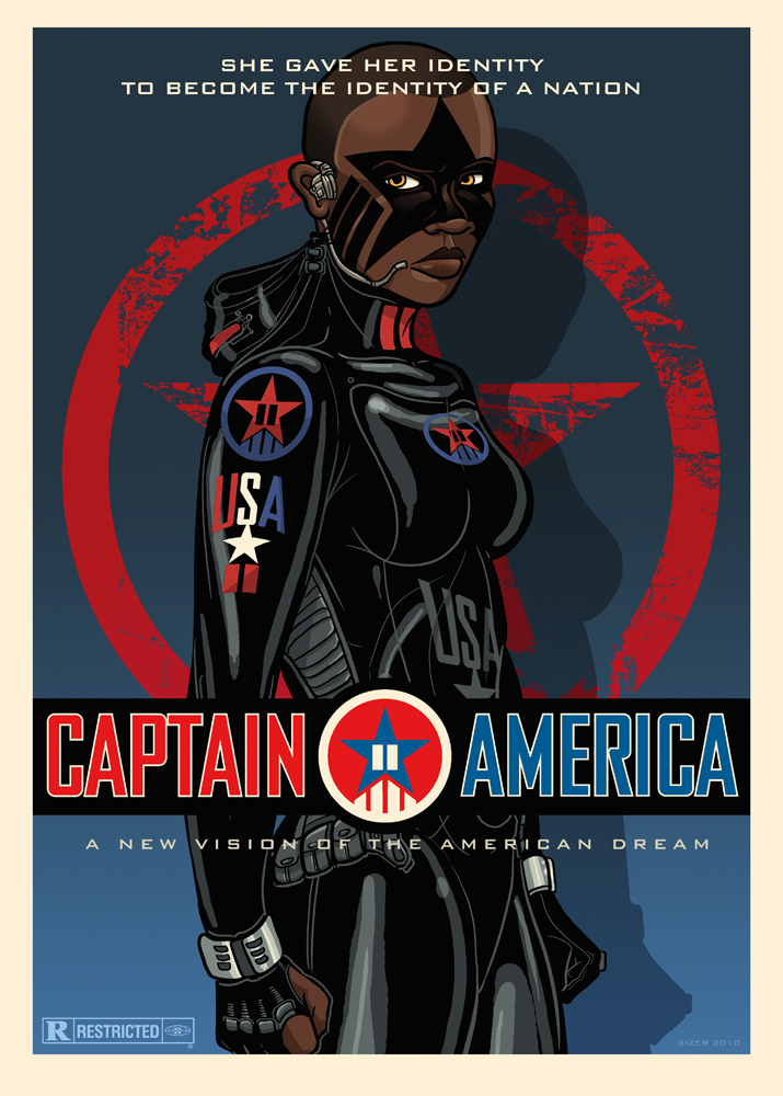 Captain America Movie Poster by PaulSizer