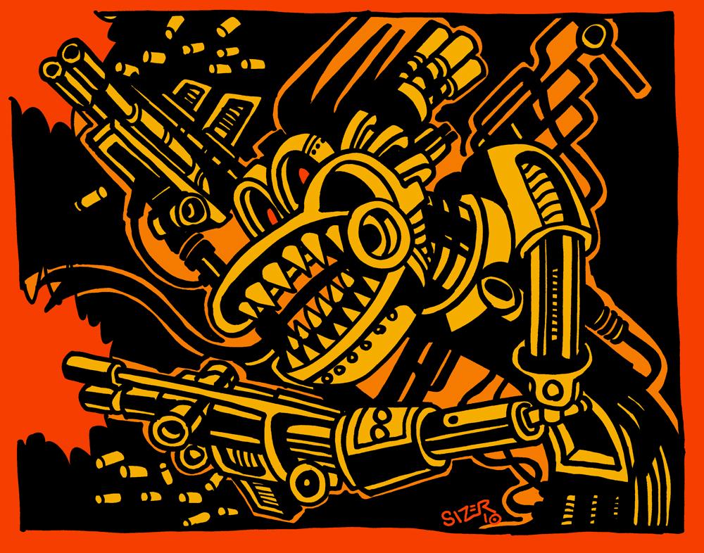 Big Gun Monster by PaulSizer