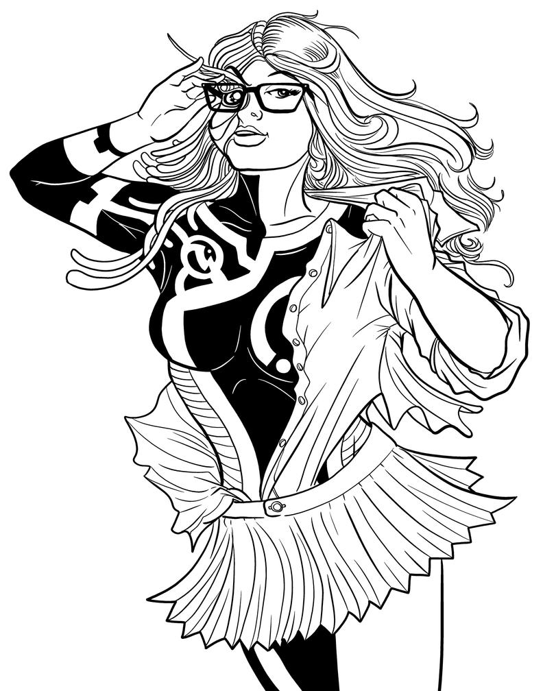 REMAKE: Supergirl 2011 Inks by PaulSizer