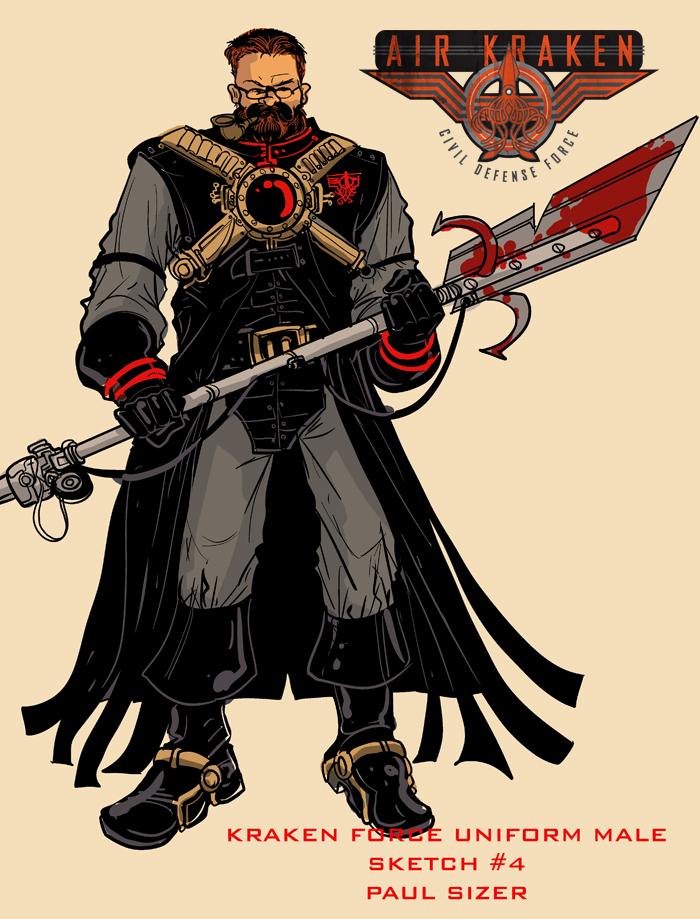 Kraken Force Uniform Male 1 by PaulSizer