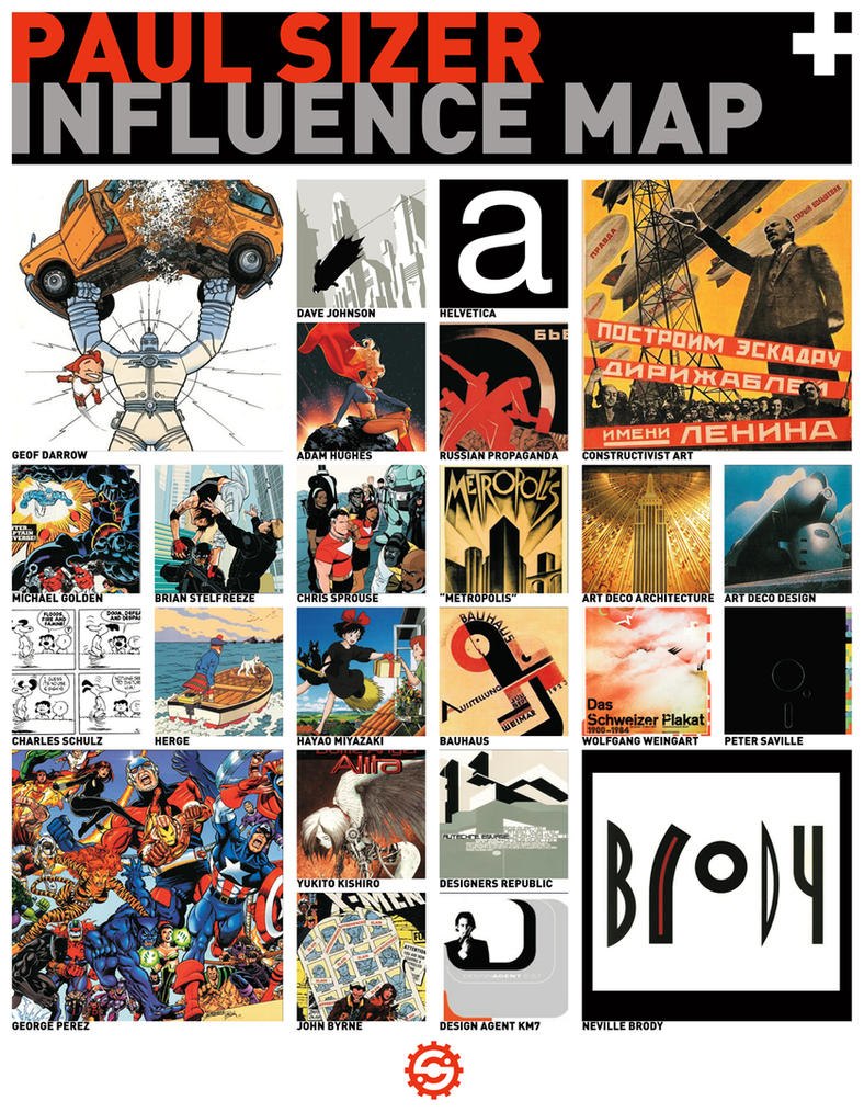 Paul Sizer Influence Map 2011 by PaulSizer