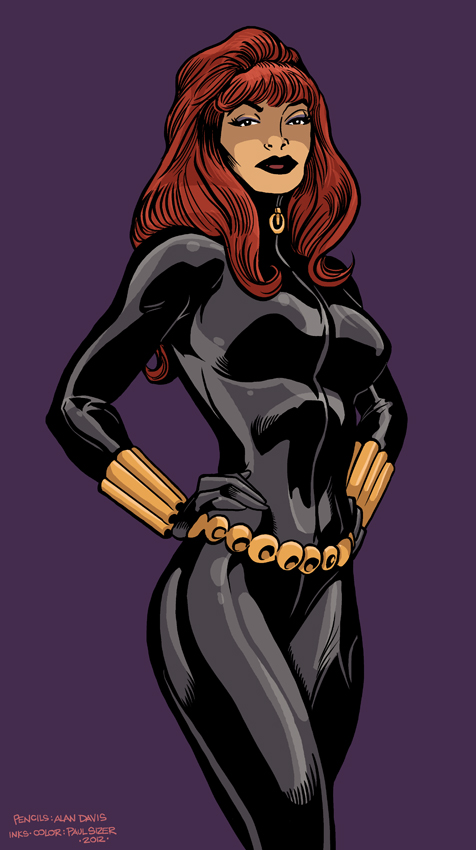 Alan Davis BLACK WIDOW by PaulSizer