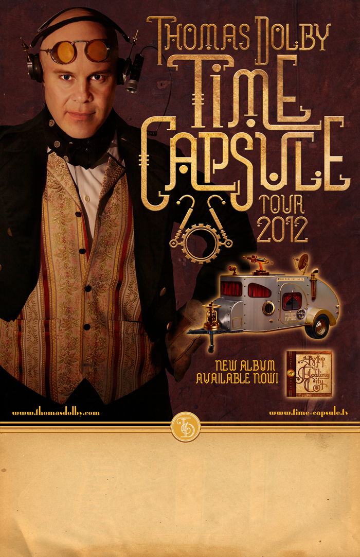 Thomas Dolby Time Capsule Tour Poster by PaulSizer