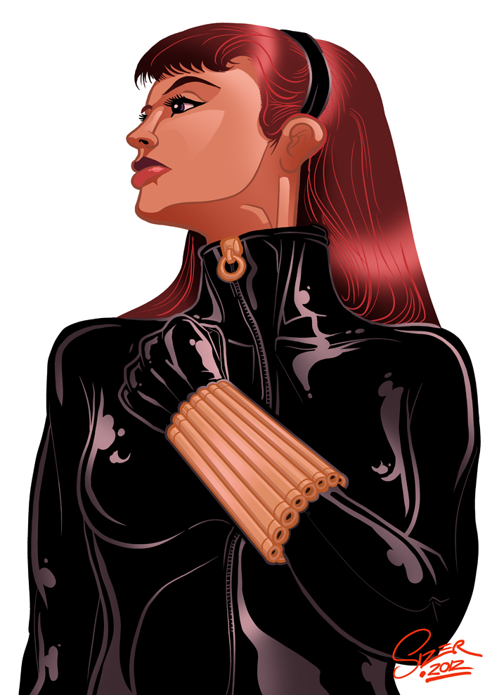 Black Widow Inks and Colors by PaulSizer
