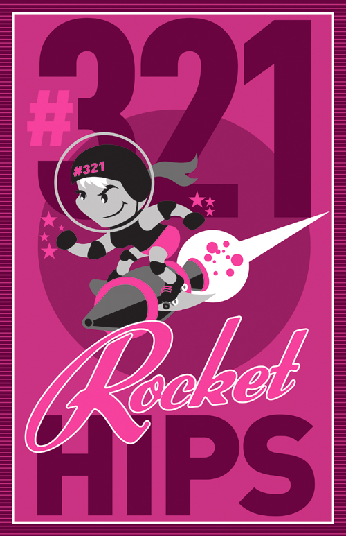 ROCKET HIPS Poster by PaulSizer