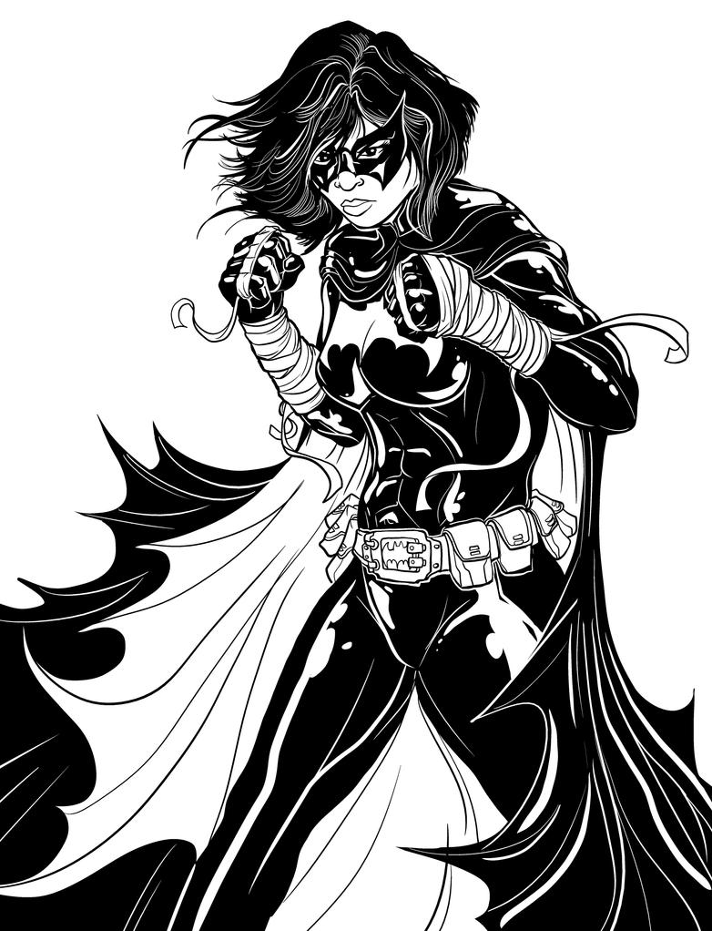 Cassandra Cain BLACK BAT Inks by PaulSizer