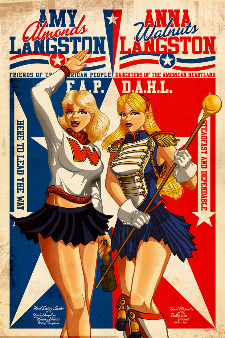 Amy and Anna Political Poster by PaulSizer