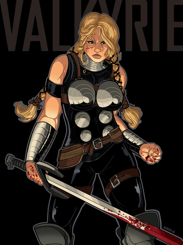 Valkyrie commission 2013 by PaulSizer
