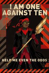 Kraken Arms Race Poster/One Against Ten Version by PaulSizer