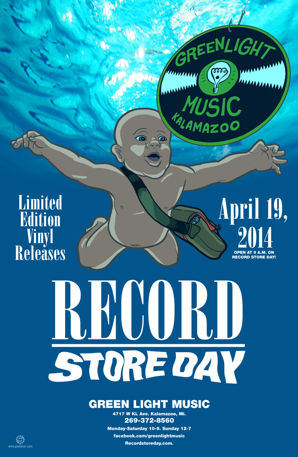 Green Light Music RECORD STORE DAY Poster 2014 by PaulSizer