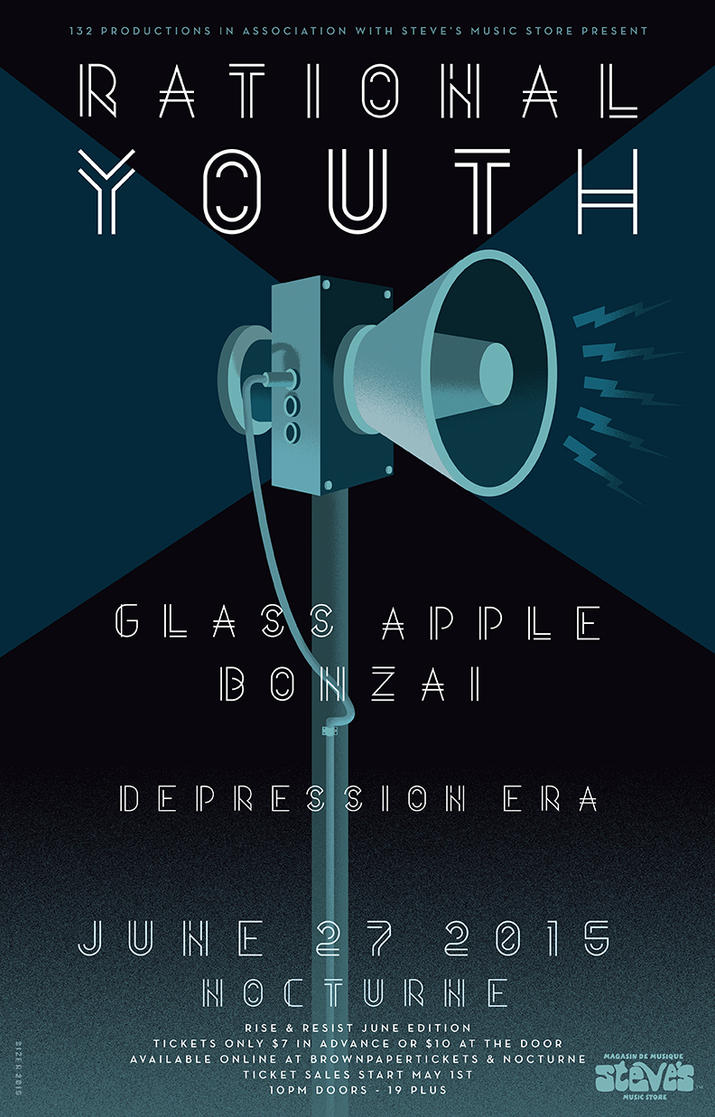 Radical Youth + Glass Apple Bonzai Poster by PaulSizer