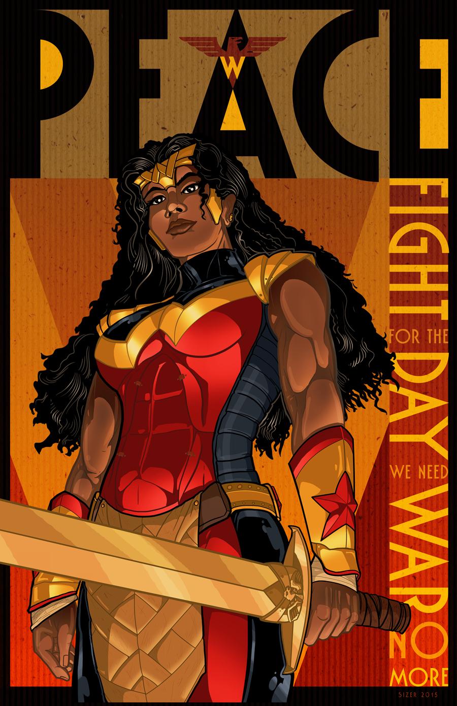 Wonder Woman Peace Poster 2015