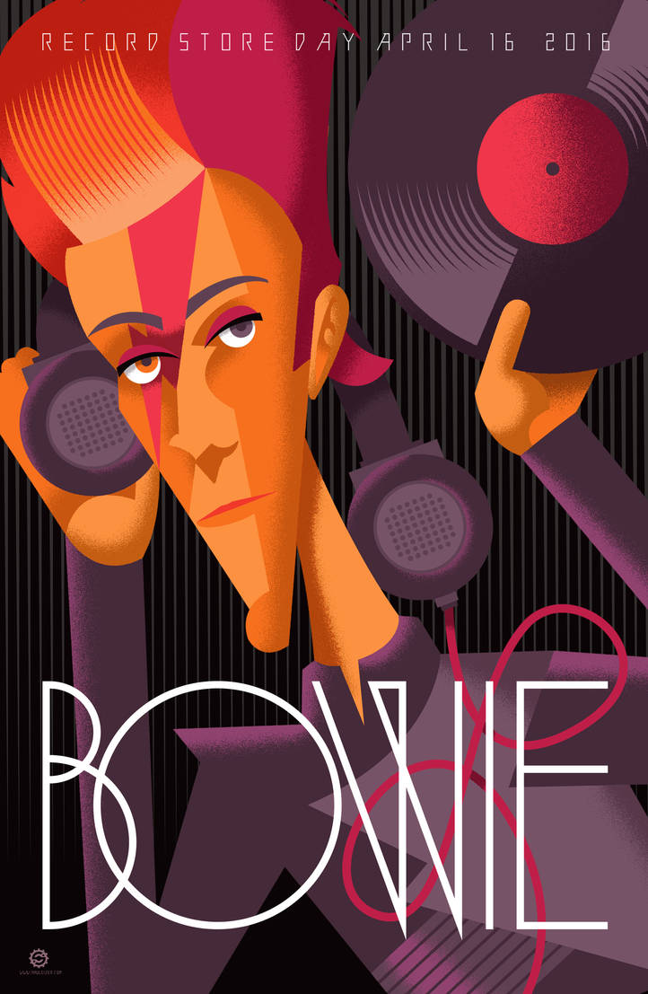Bowie Record Store Day 2016 Print