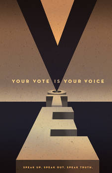 Your Vote Is Your Voice Poster