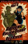 Abilene Roller Derby Godzilla Poster