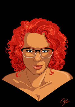 Dextra Curly Hair and Glasses