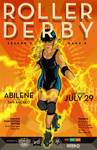 Abilene Roller Derby Poster (July 2017)