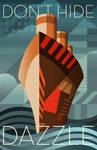 Dazzle Deco Ship Poster