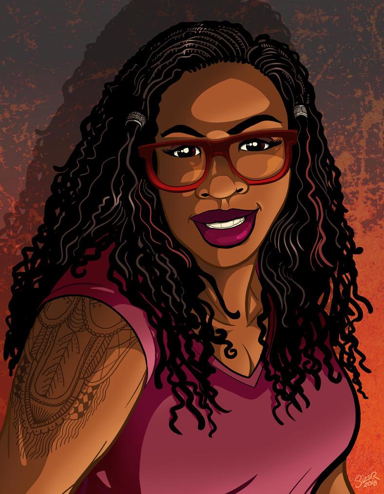 Teri Clarke Caricature July 2018 by PaulSizer